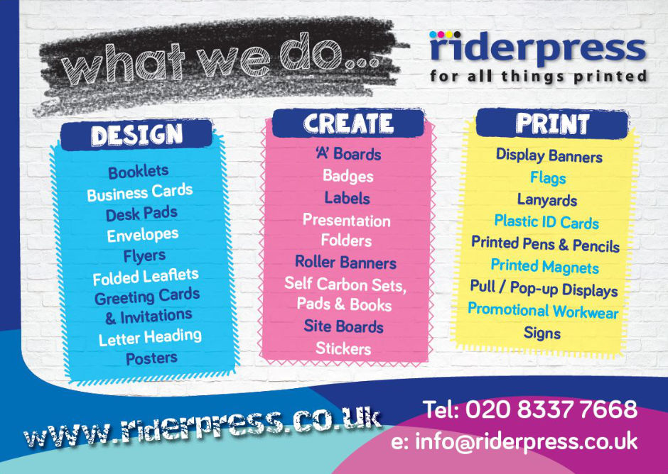 Rider Press - what we do